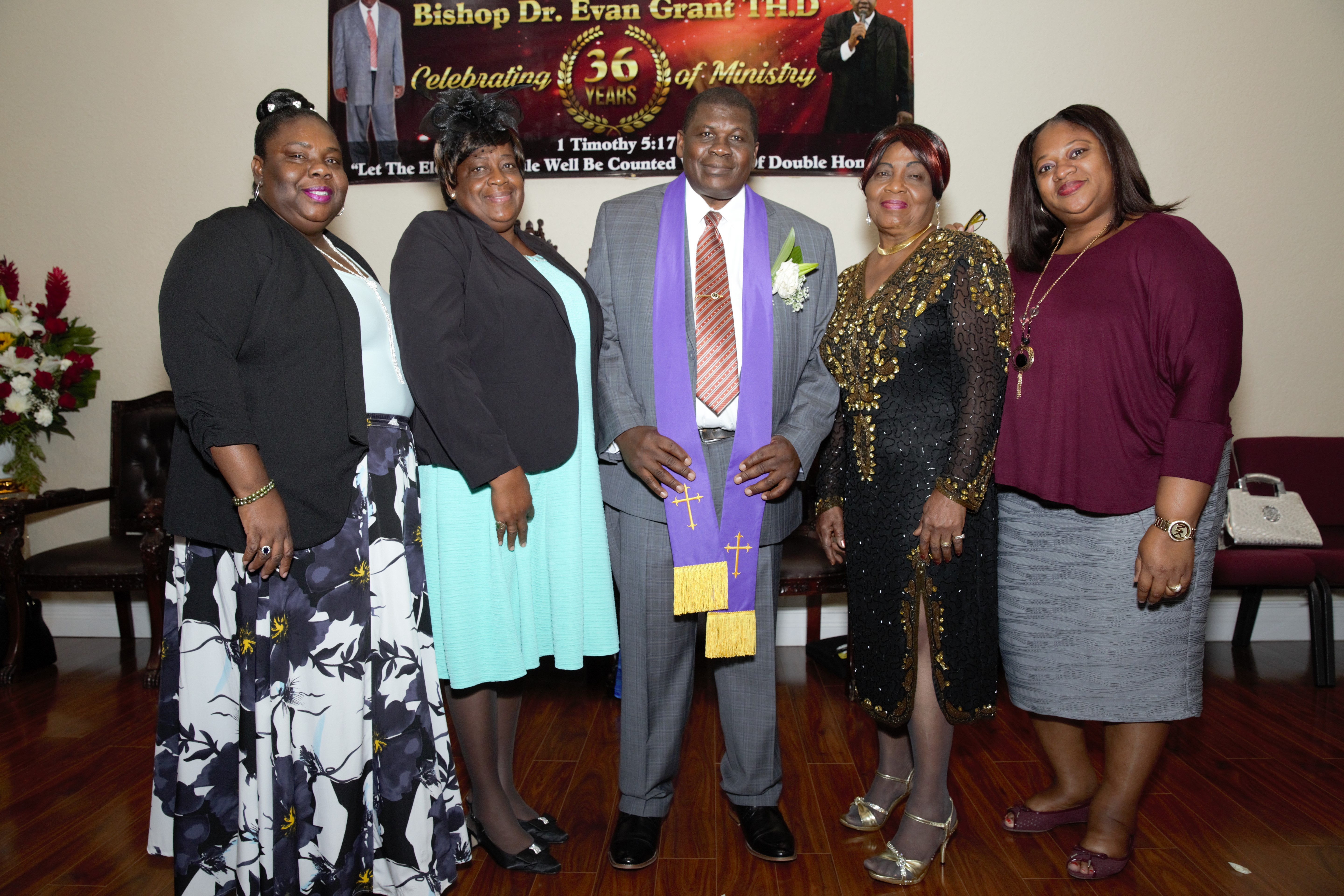 Bishop Dr. Evan Grant TH.D. General Overseer and Clerks