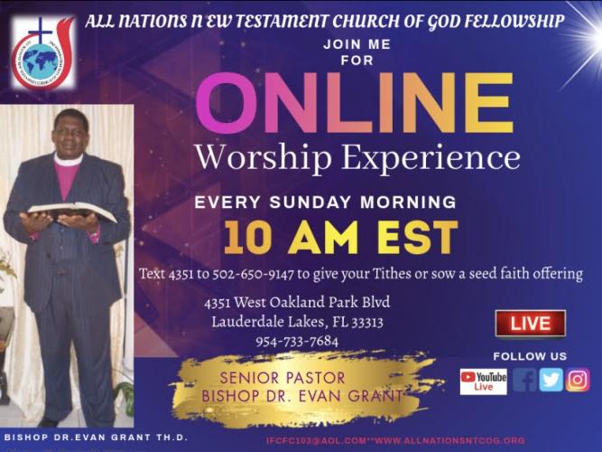 Online Worship Flyer