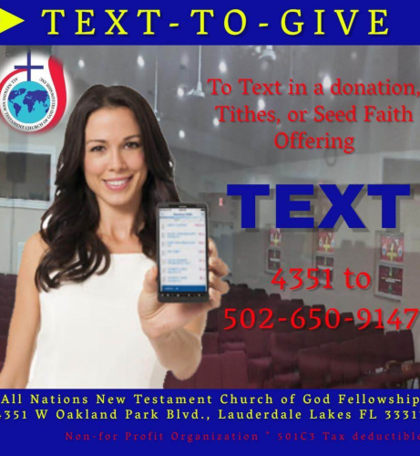 Text-to-Give Flyer